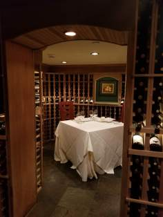 The Bartender Took us Downstairs to Show us this Private 2 Person Dining Table in the Wine Cellar Restaurant